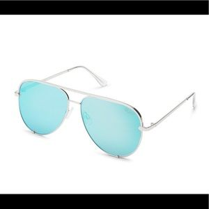NWT Quay Australia High Key Aviators - Blue/Silver